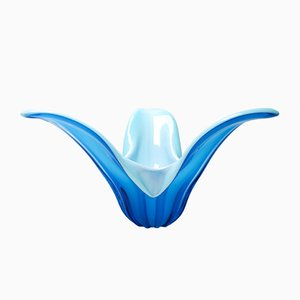 Blue Murano Glass Tulip Bowl by Stefano Toso
