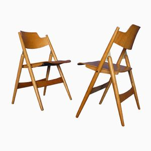 Mid-Century SE18 Folding Chairs by Egon Eiermann for Wilde & Spieth, 1950s, Set of 2