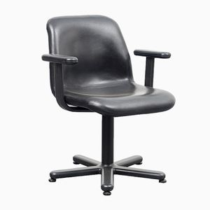 Mid-Century Leather Desk Chair from Knoll International, 1950s