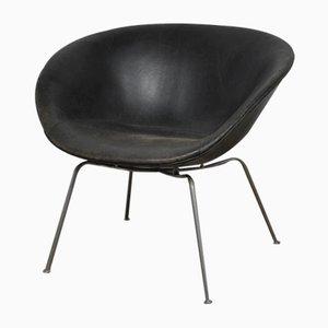 Dänischer Mid-Century Pot Stuhl von Arne Jacobsen für Fritz Hansen, 1950er
