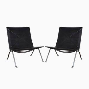 Dänische PK22 Stühle von Poul Kjaerholm für E. Kold Christensen, 1960er, 2er Set
