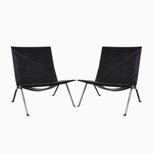Danish PK22 Chairs by Poul Kjaerholm for E. Kold Christensen, 1960s, Set of 2