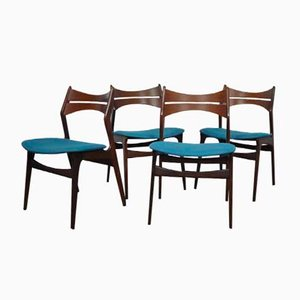 Danish Model 310 Chairs by Erik Buch for Chr. Christiansen, 1950s, Set of 4