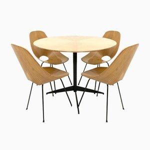 Esstisch mit Medea Stühlen von Vittorio Nobili für Fratelli Tagliabue, 1950er