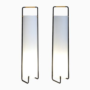 French Perspex Lamps, 1950s, Set of 2