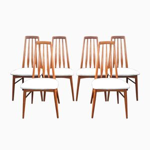 Vintage Eva Chairs by Niels Koefoed for Hornslet Møbelfabrik, Set of 6
