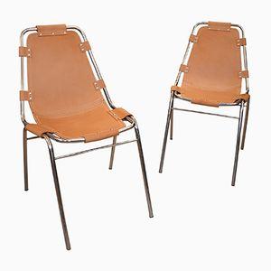 Les Arcs Stühle von Charlotte Perriand, 1970er, 2er Set