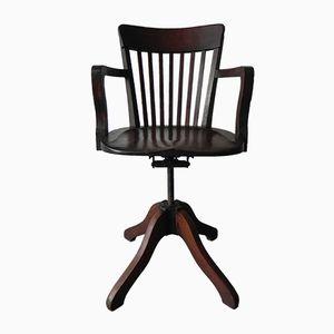 Chaise de Bureau Ajustable en Chêne, 1930s
