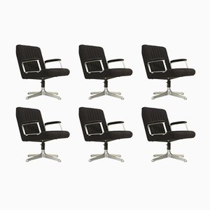 P125 Chairs by Osvaldo Borsani for Tecno, 1970s, Set of 6