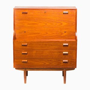 Vintage Secretaire in Teak by Borge Mogensen for Søborg Møbel, 1953