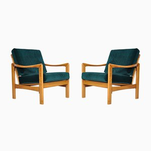Mid-Century Modern Teak Lounge Chairs, Set of 2