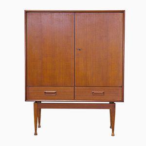 Teak Schrank mit Zwei Türen und Zwei Schubladen, 1960er