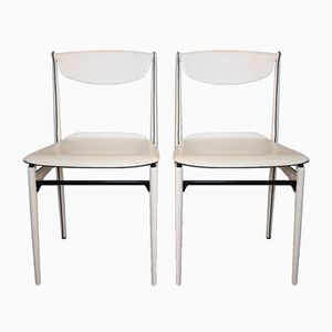 Vintage Leather Chairs by Tito Agnoli for Matteo Grassi, Set of 2