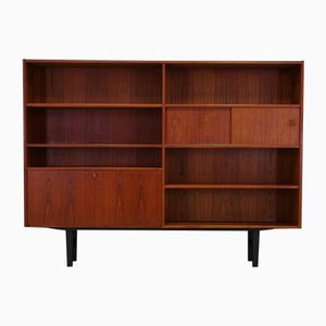 Scandinavian Teak Highboard with Bar, 1970s