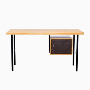 Writing Desk in Birch with a Steel Frame, 1970s