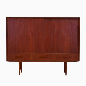 Danish Teak Highboard with Three Drawers, 1970s