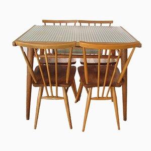 Table en Formica et 4 Chaises par Lucian Ercolani pour Ercol, 1960s
