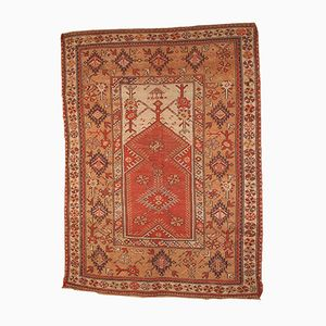 Antiker Handgeknüpfter Türkischer Melas Gebetsteppich, 1870er