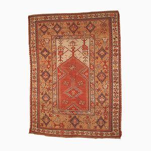 Antique Handmade Turkish Melas Prayer Rug, 1870s