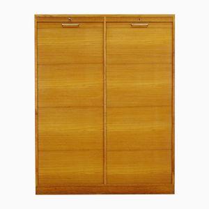 Danish Teak Cabinet with Tambour Doors, 1970s