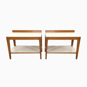 Tables de Chevet en Noyer par Gio Ponti, 1950s, Set de 2