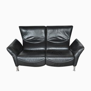 Vintage Sofa in Black Leather from de Sede