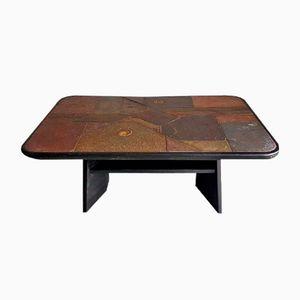 Vintage Brutalist Stone Coffee Table, 1980s
