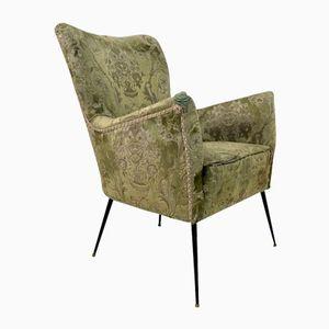 Vintage Italian Chair with Slender Brass Legs