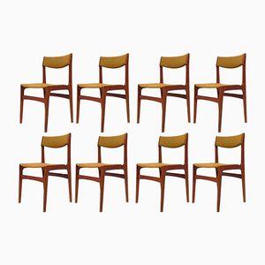 Vintage Teak Chairs, Set of 8