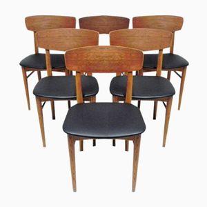 Chaises en Bois Vintage, Scandinavie, Set de 6