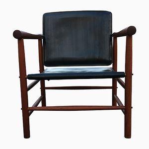 Vintage Safari Chair by Kaj Lyngfeldt Larsen for Søborg Møbelfabrik