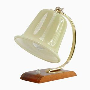 Vintage German Table Lamp in Opaline Glass, 1930s