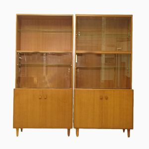 Large Scandinavian Teak Wall Book Unit, 1950s