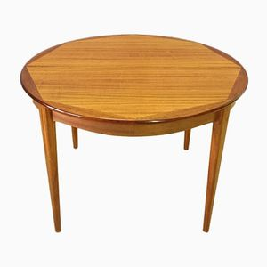 Vintage Scandinavian Blonde Rosewood Table with Two Extensions, 1950s