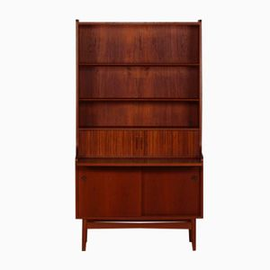 Mid-Century Danish Teak Bookcase with Writing Plate from Bornholms Møbelfabrik, 1960s