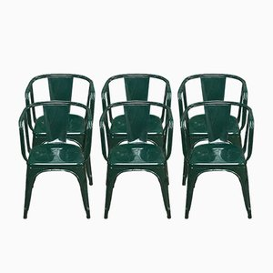 Vintage Armchairs by Xavier Pauchard for Tolix, Set of 6