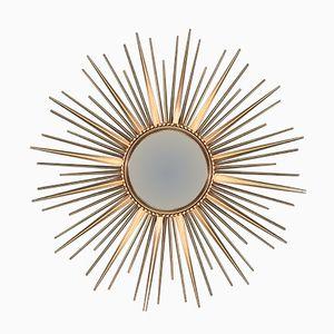 Französischer Spiegel in Sonnenform von Chaty Vallauris, 1950er