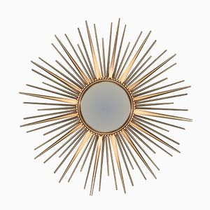 French Mirror in Sunburst Shape from Chaty Vallauris, 1950s