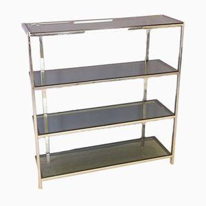 Shelf in Chromed Metal & Glass, 1970s