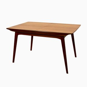 Dutch Retractable Dining Table in Teak by Louis Van Teeffelen for WéBé, 1960s
