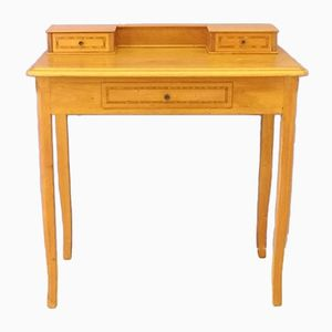 Lady's Blonde Oak and Marquetry Desk, 1950s
