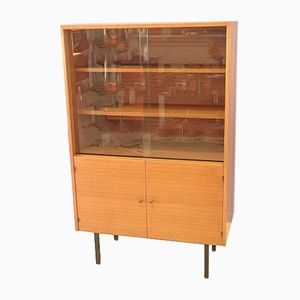 Bibliothèque Vintage avec Portes Coulissantes, 1950s
