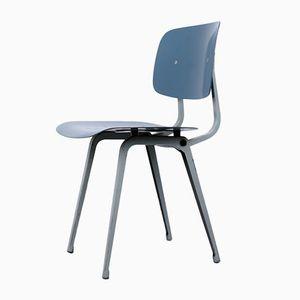 Blue & Grey Dutch Revolt Chair by Friso Kramer for Ahrend De Cirkel, 1964