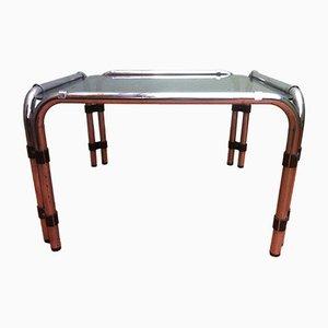 Table Basse avec Plateau en Verre Fumé, 1960s