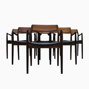 Vintage Rosewood Chairs by Erik Christensen for Scantic Mobelvaerk, Set of 6