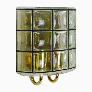 Mid-Century Wandlampe von Glashütte Limburg