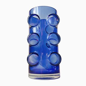 Modernist Pablo Blue Glass Vase by Erkkitapio Siiroinen for Riihimäen lasi, 1970s