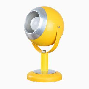 Gelbe Vintage Space Age Tischlampe in Augapfel Optik von Brillant Leuchten