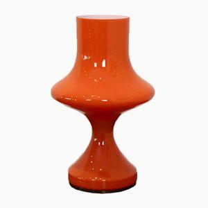 Lampe de Bureau en Verre Orange de Venini, 1960s
