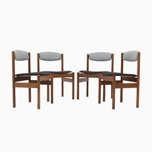 Dänische Eiche Esszimmerstühle von FDB Møbler, 1960er, 4er Set